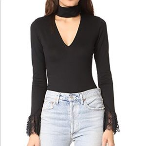 Lace detailed black bodysuit